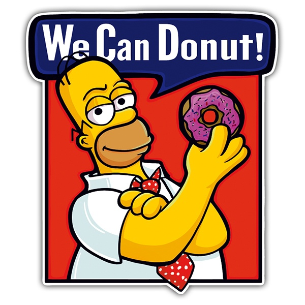 Autocollants: We can Donut