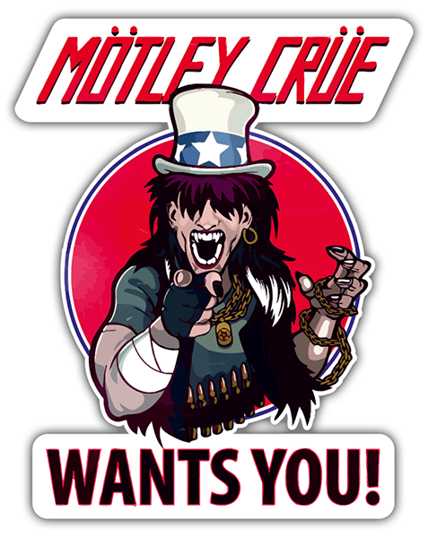 Autocollants: Mötley Crüe, Wants You?