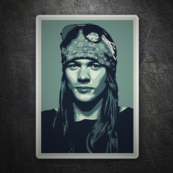 Autocollants: Axl Rose Pop Art