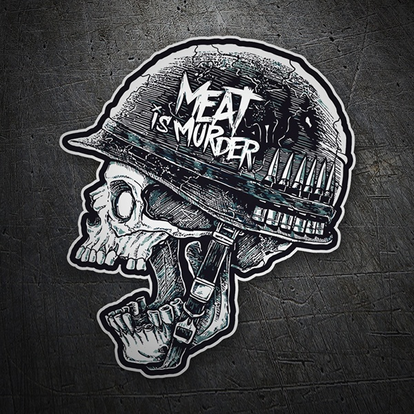 Autocollants: Meat is Murder