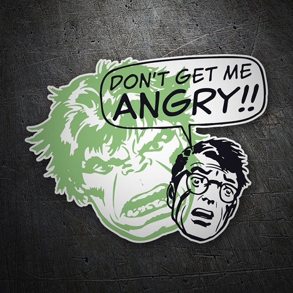 Autocollants: Don´t get me Angry