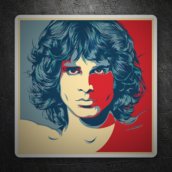 Autocollants: Jim Morrison Pop Art