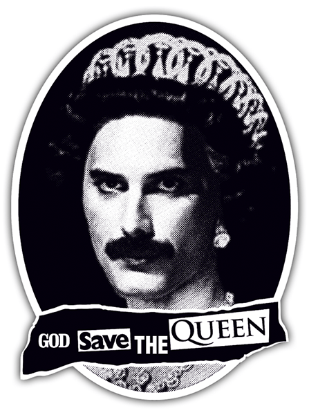 Autocollants: God save the Queen