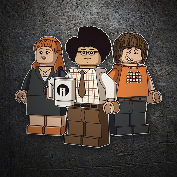 Autocollants: Lego the it crowd