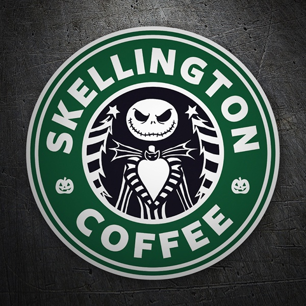 Autocollants: Skellington Coffee