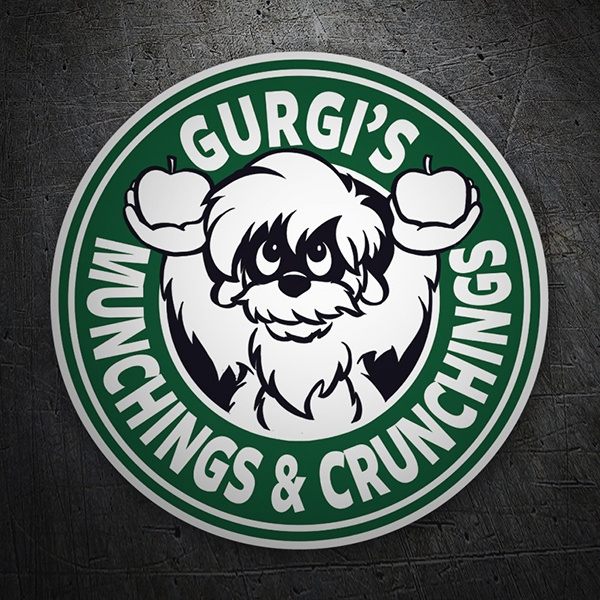 Autocollants: Gurgi Munchings and Crunchings