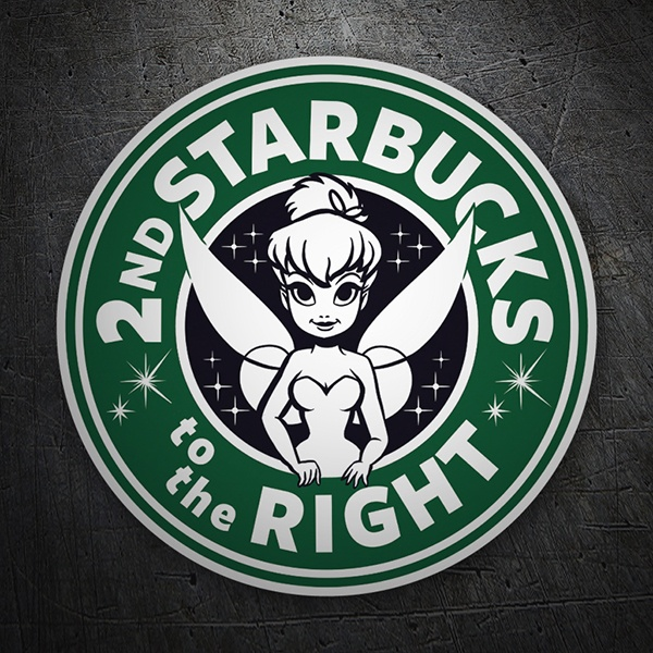 Autocollants: Starbucks to the right