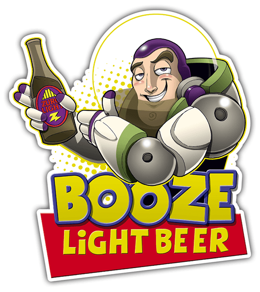 Autocollants: Booze Light Beer