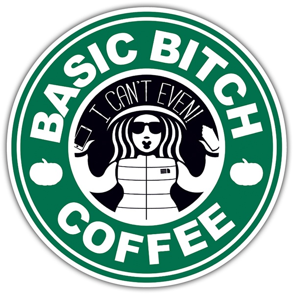 Autocollants: Basic Bitch Coffee