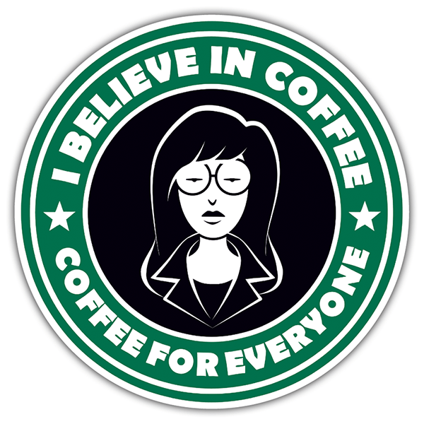 Autocollants: I believe in coffee