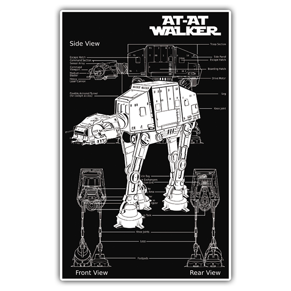 Autocollants: Star Wars AT-AT