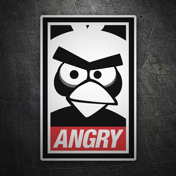 Autocollants: Angry Birds Obey