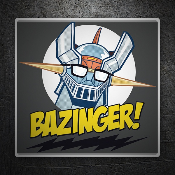 Autocollants: Mazinger Z dans The Big Bang Theory