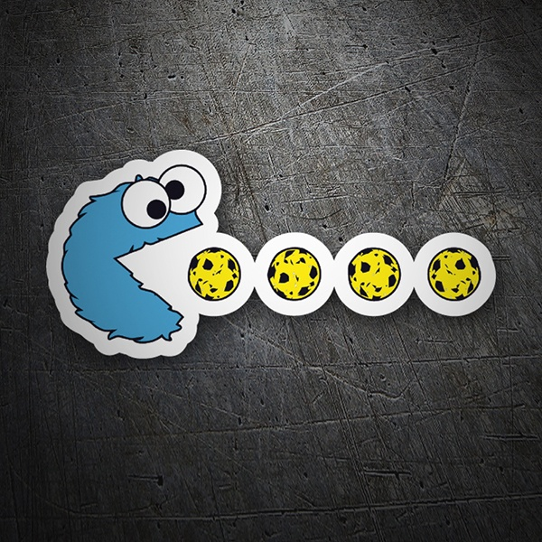 Autocollants: Monstre cookie Pac-Man