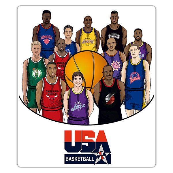 Stickers muraux: Dream team USA