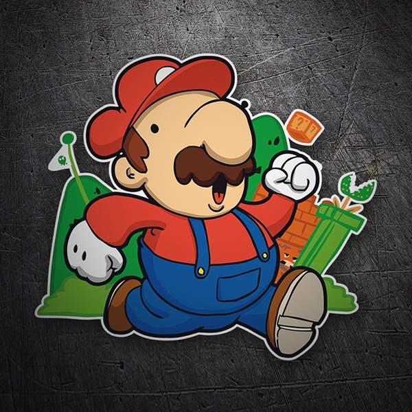 Autocollants: Super Mario Cartoon