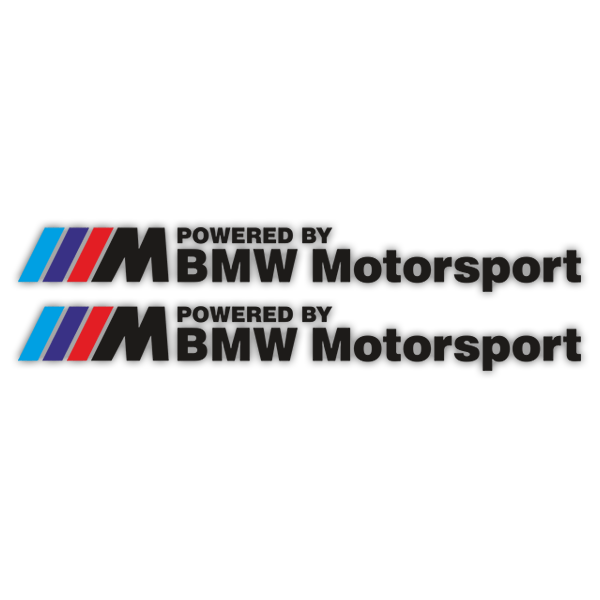 Autocollants: Kit BMW Motorsport Noir