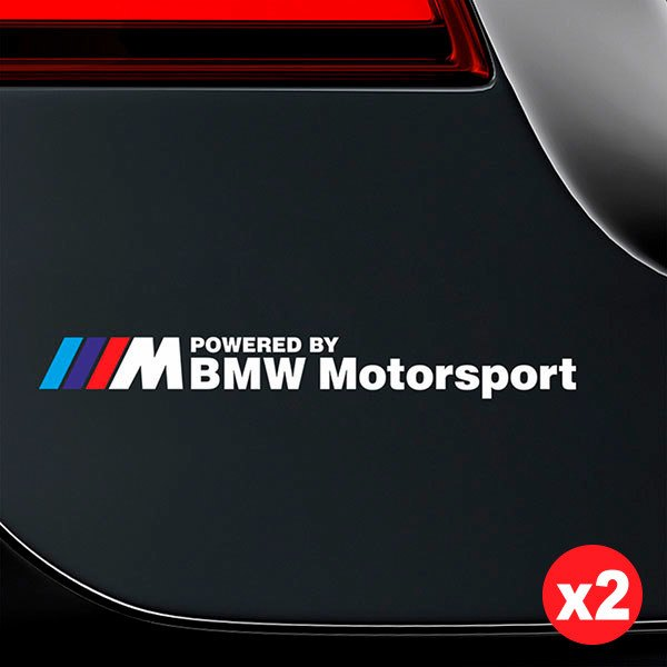 Autocollants: Kit BMW Motorsport Blanc
