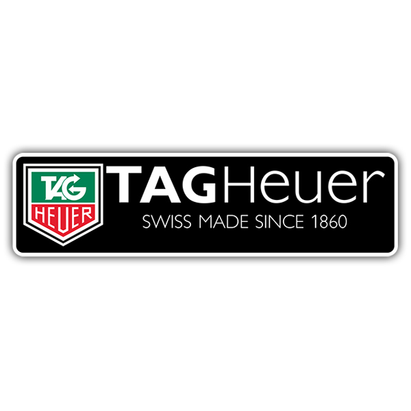 Autocollants: Tag Heuer Swiss Made Since 1860