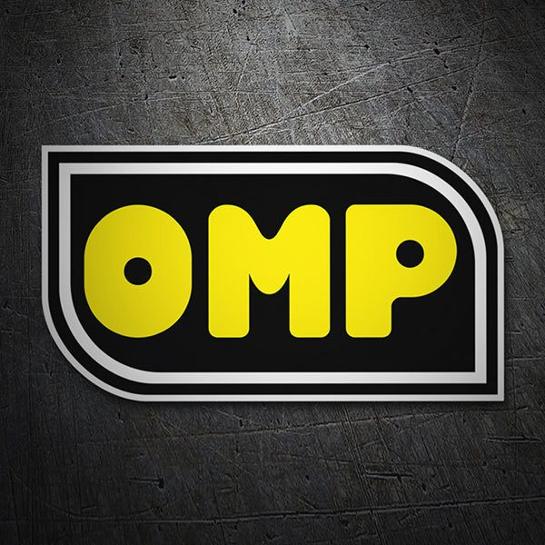 Autocollants: Paroles OMP jaune 1