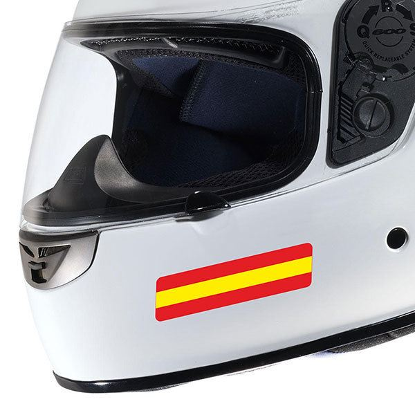Autocollants: Casque de moto Kit Spain