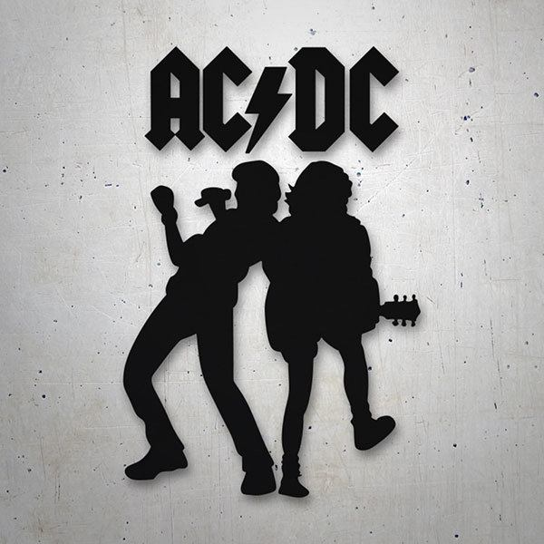 Autocollants: ACDC Angus Young et Brian Johnson