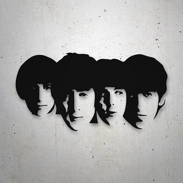 Autocollants: The Beatles Visages