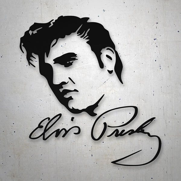 Autocollants: Elvis Presley Photo avec autographe