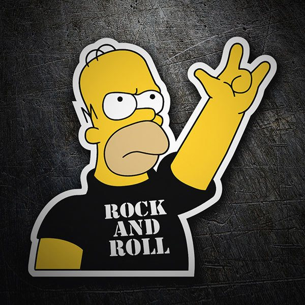 Autocollants: Rock and Roll Homer