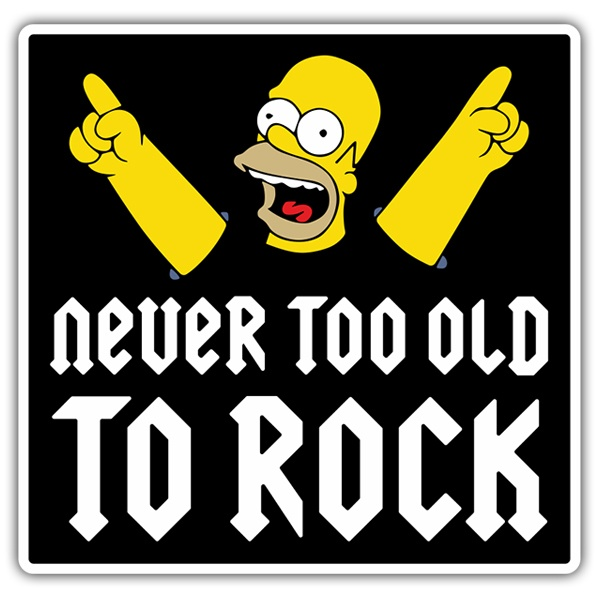Autocollants: Homer Never too old to rock