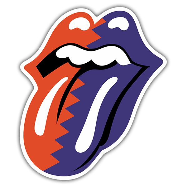Autocollants: The Rolling Stones Langue bicolore