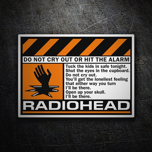 Autocollants: Radiohead - Do Not Cry