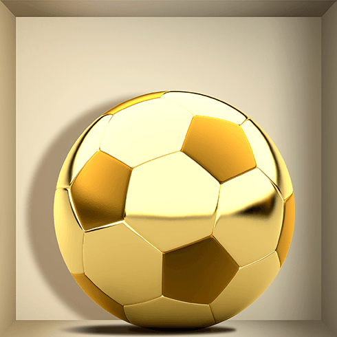 Stickers muraux: Ballon d Or niche
