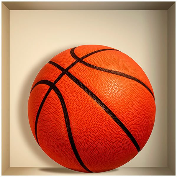 Stickers muraux: Balle de basket-ball niche