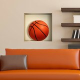 Stickers muraux: Balle de basket-ball niche 3