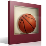 Stickers muraux: Balle de basket-ball niche 4