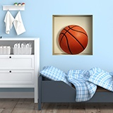 Stickers muraux: Balle de basket-ball niche 5