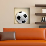Stickers muraux: Ballon de football niche 3