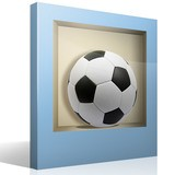 Stickers muraux: Ballon de football niche 4