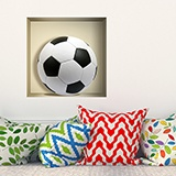 Stickers muraux: Ballon de football niche 5