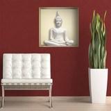 Stickers muraux: Bouddha blanc niche 3