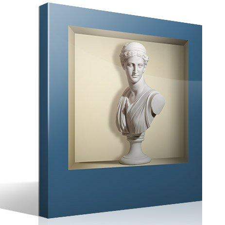 Stickers muraux: Niche Ancienne statue de marbre