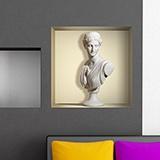 Stickers muraux: Niche Ancienne statue de marbre 5