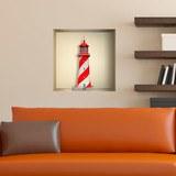 Stickers muraux: Phare Maritime niche 3