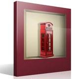 Stickers muraux: Cabine téléphonique de Londres niche 4