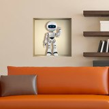 Stickers muraux: Robot niche 3