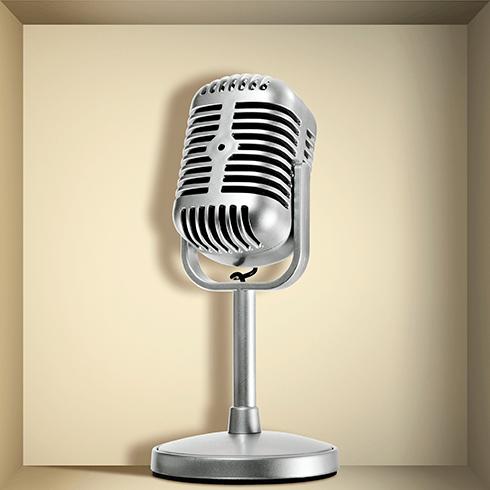 Stickers muraux: Rétro Microphone niche