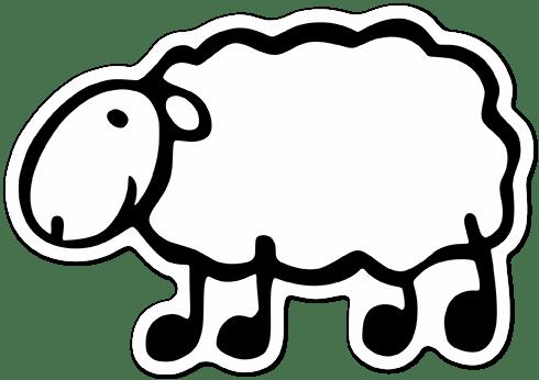 Autocollants: Moutons blancs menhaden