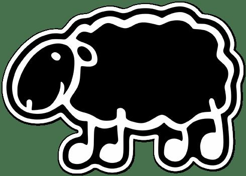 Autocollants: Mouton noir menhaden
