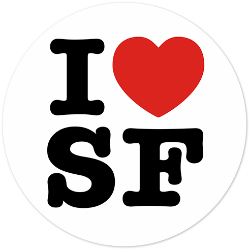 Autocollants: I love SF